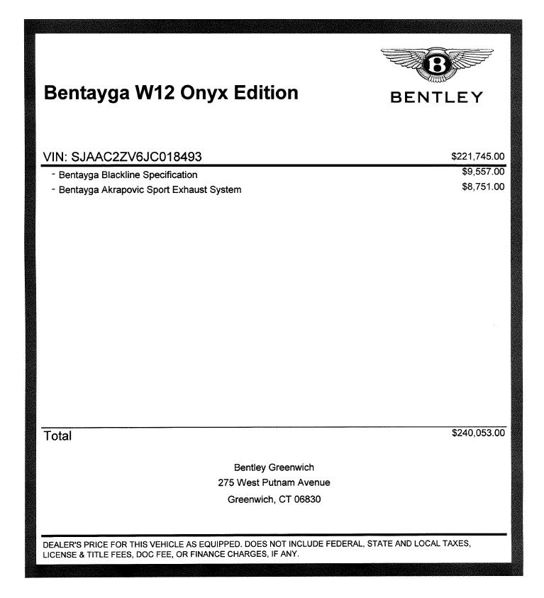 Used 2018 Bentley Bentayga Onyx For Sale In Westport, CT 1549_p32