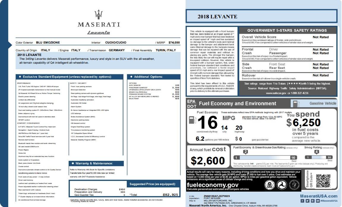 New 2018 Maserati Levante Q4 For Sale In Westport, CT 1558_p33