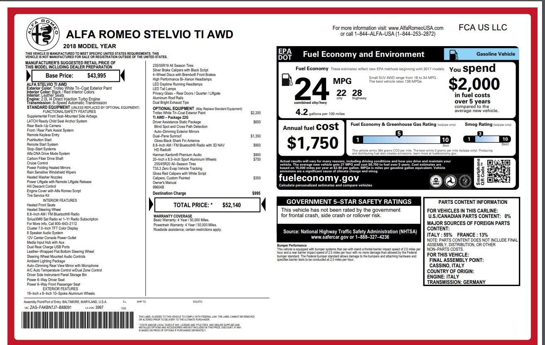 New 2018 Alfa Romeo Stelvio Ti Q4 For Sale In Westport, CT 1679_p26
