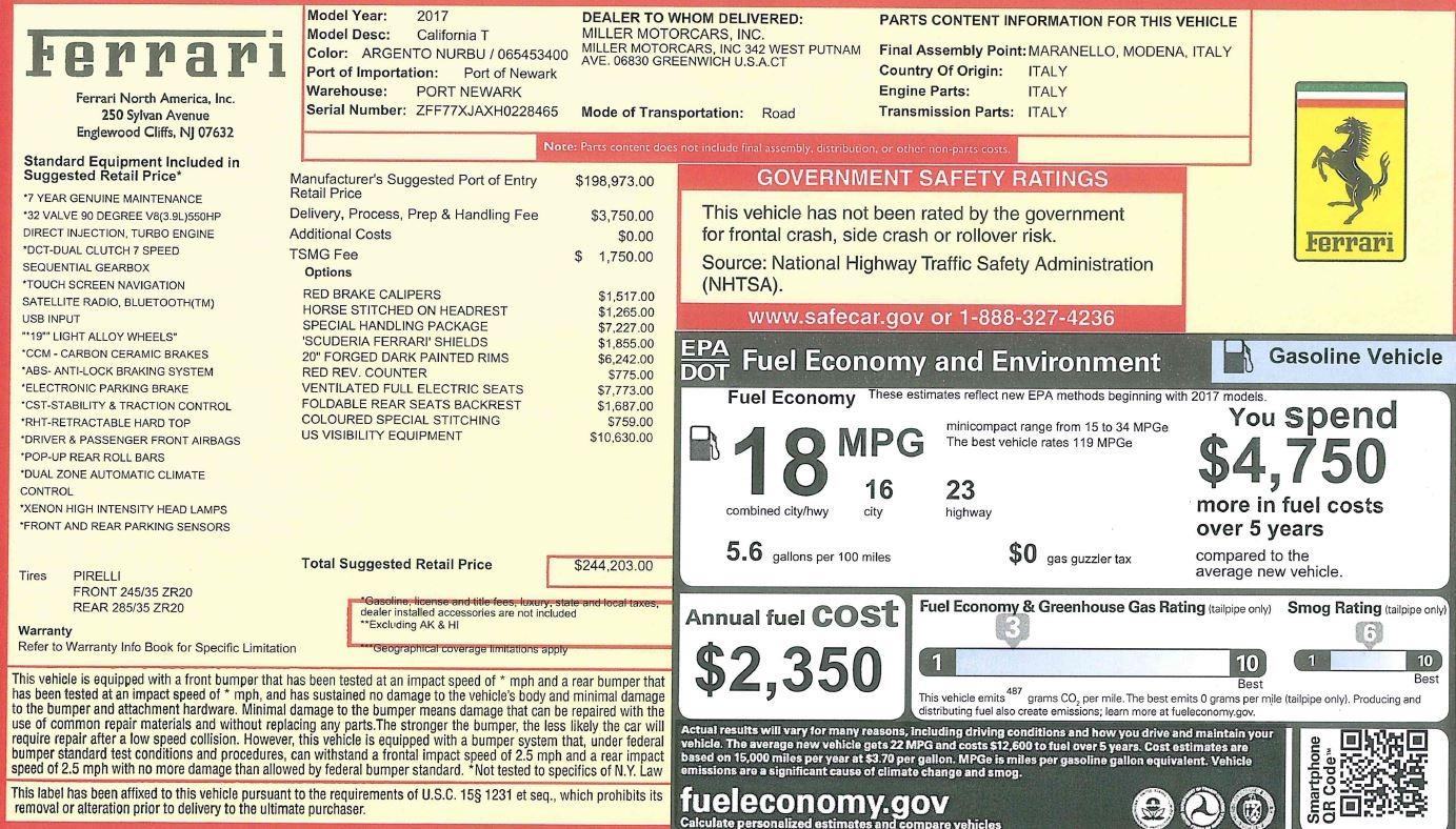 Used 2017 Ferrari California T Handling Speciale For Sale In Westport, CT 2037_p34