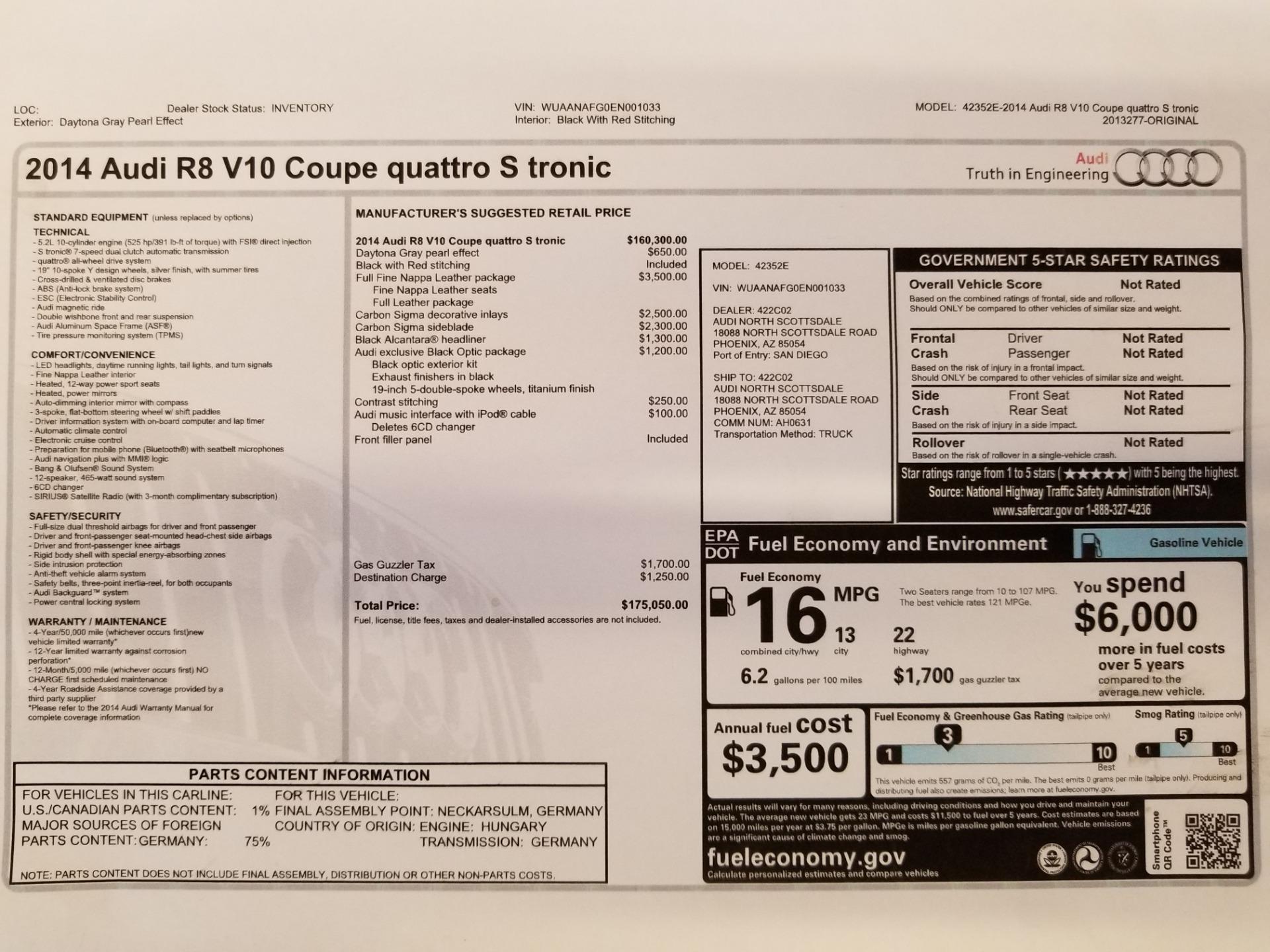 Used 2014 Audi R8 5.2 quattro For Sale In Westport, CT 2147_p24