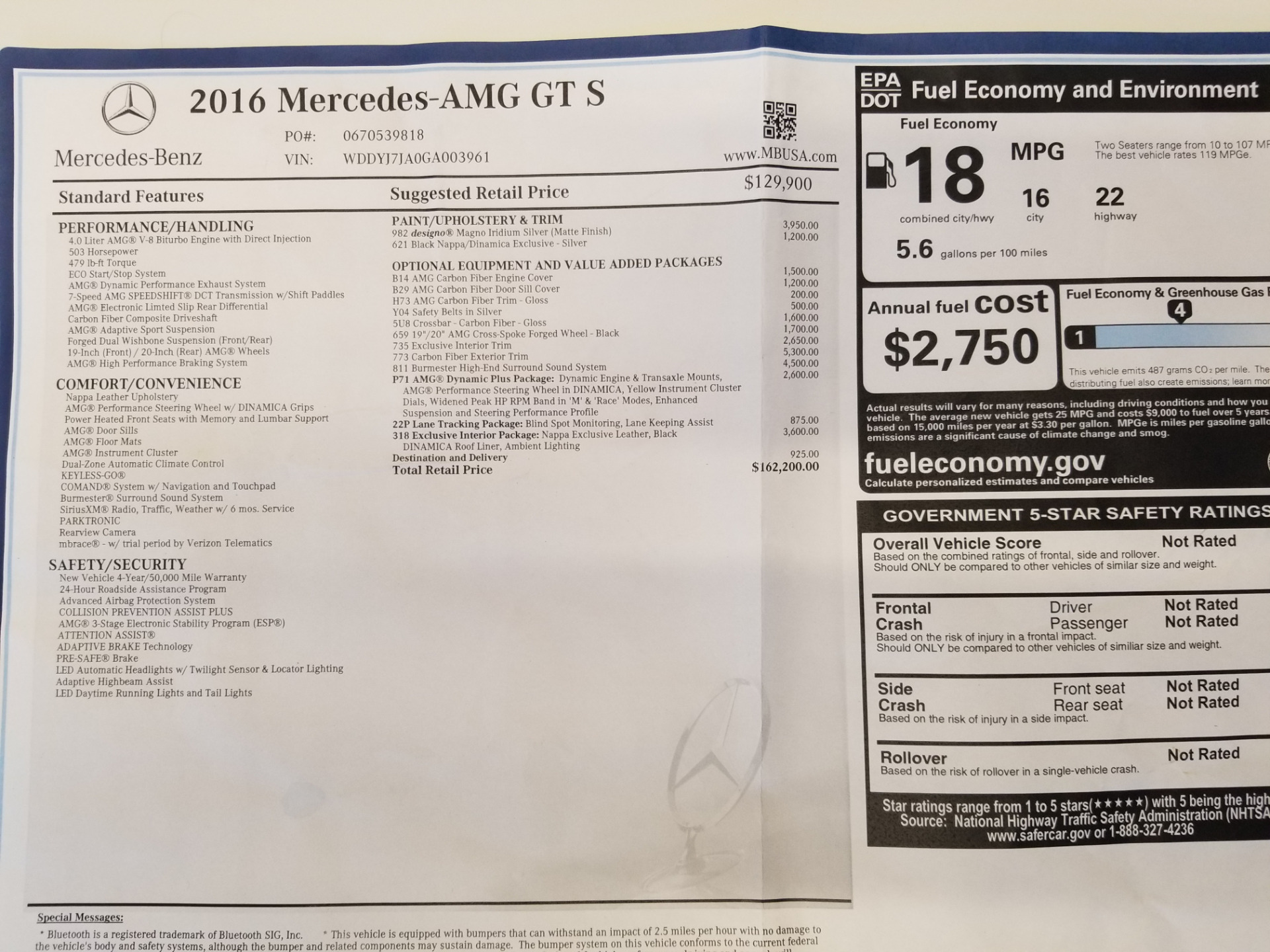 Used 2016 Mercedes-Benz AMG GT S For Sale In Westport, CT 2150_p25