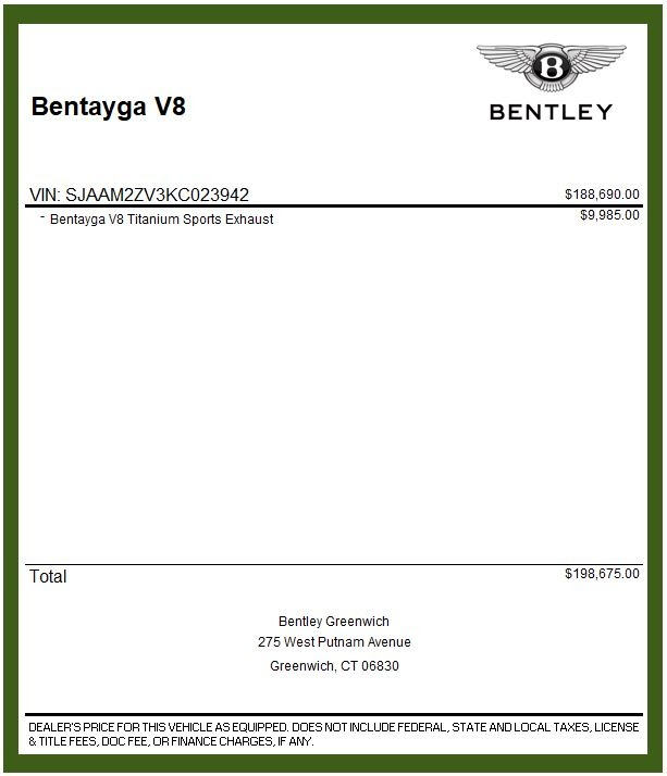 Used 2019 Bentley Bentayga V8 For Sale In Westport, CT 2162_p31