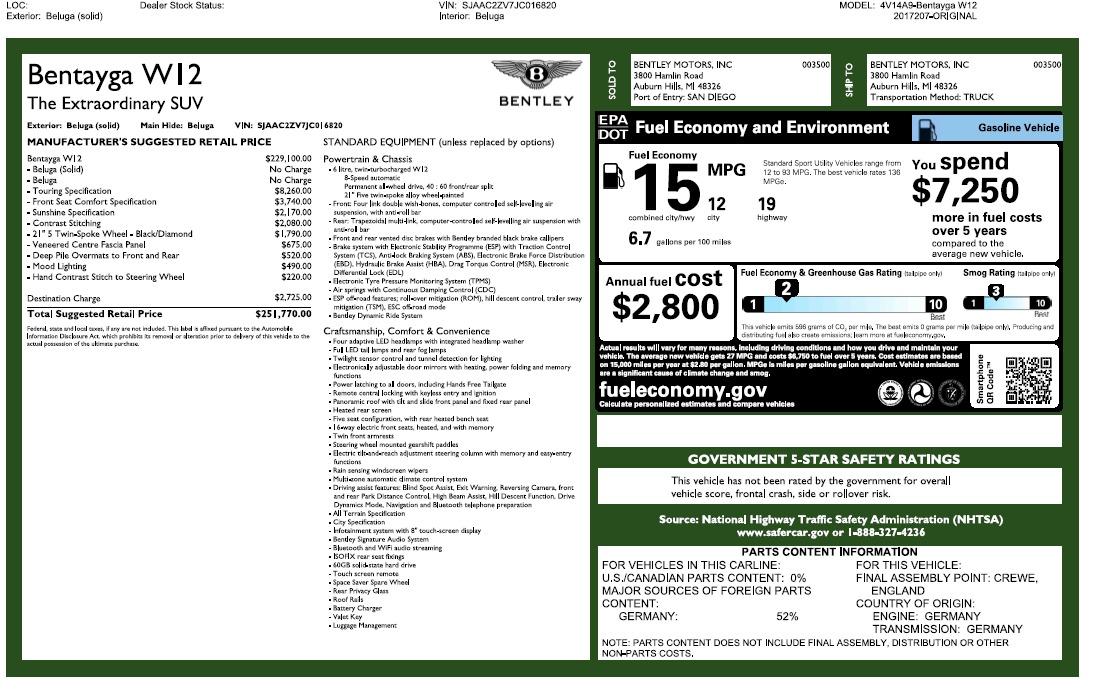 Used 2018 Bentley Bentayga W12 Signature For Sale In Westport, CT 2167_p31