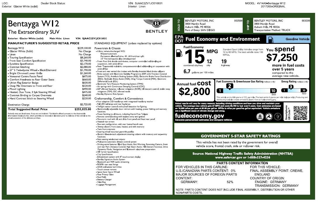 Used 2018 Bentley Bentayga Signature For Sale In Westport, CT 2168_p32