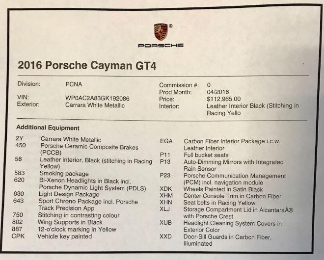 Used 2016 Porsche Cayman GT4 For Sale In Westport, CT 2234_p23
