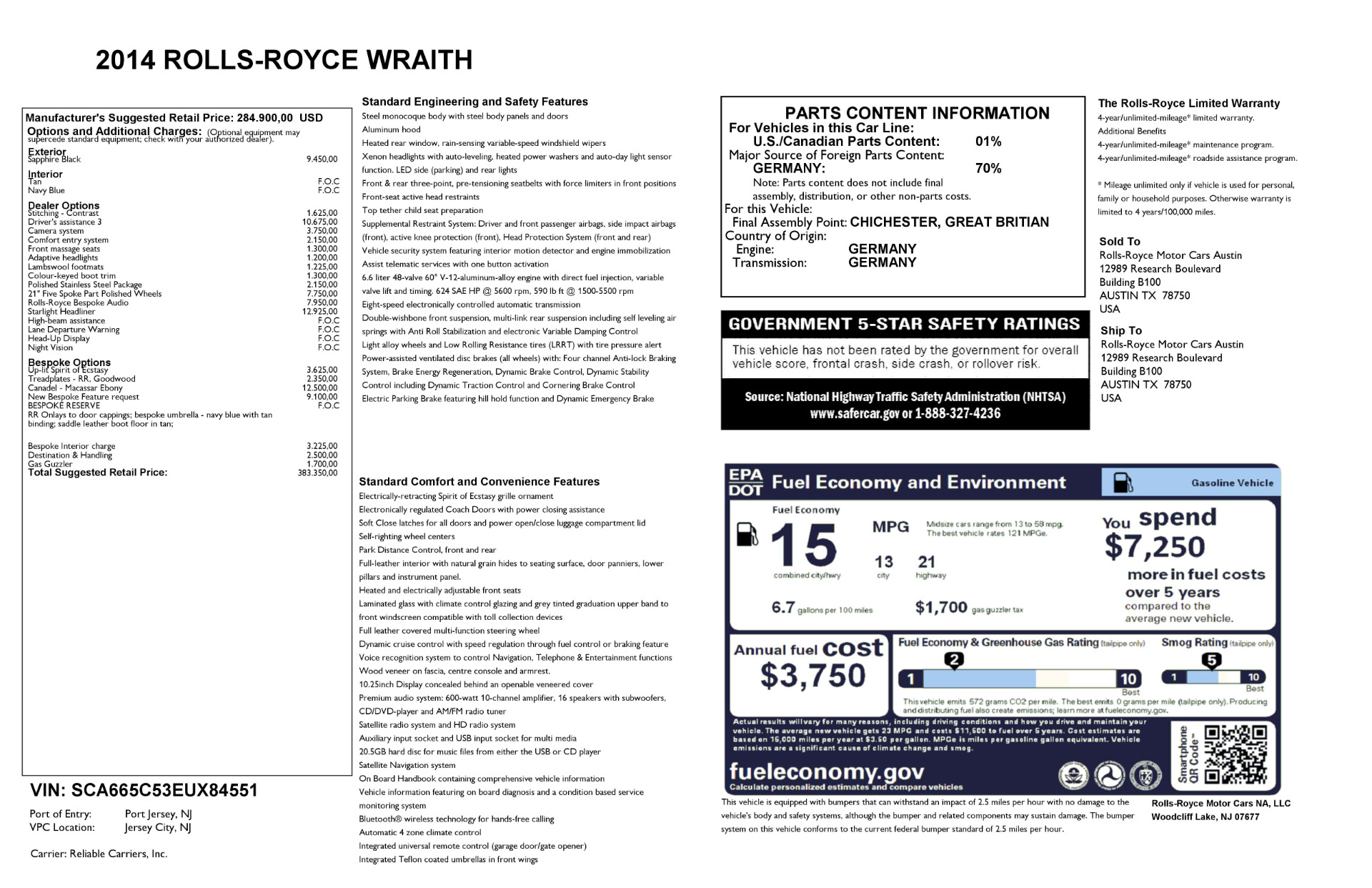 Used 2014 Rolls-Royce Wraith  For Sale In Westport, CT 2305_p32