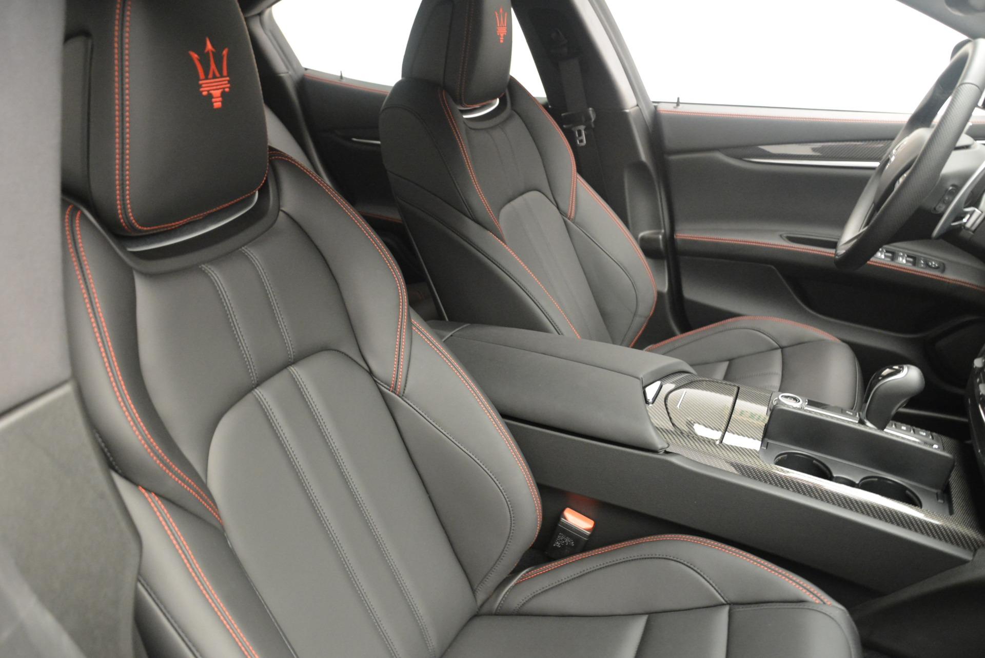 New 2018 Maserati Ghibli SQ4 GranSport Nerissimo For Sale In Westport, CT 2372_p22