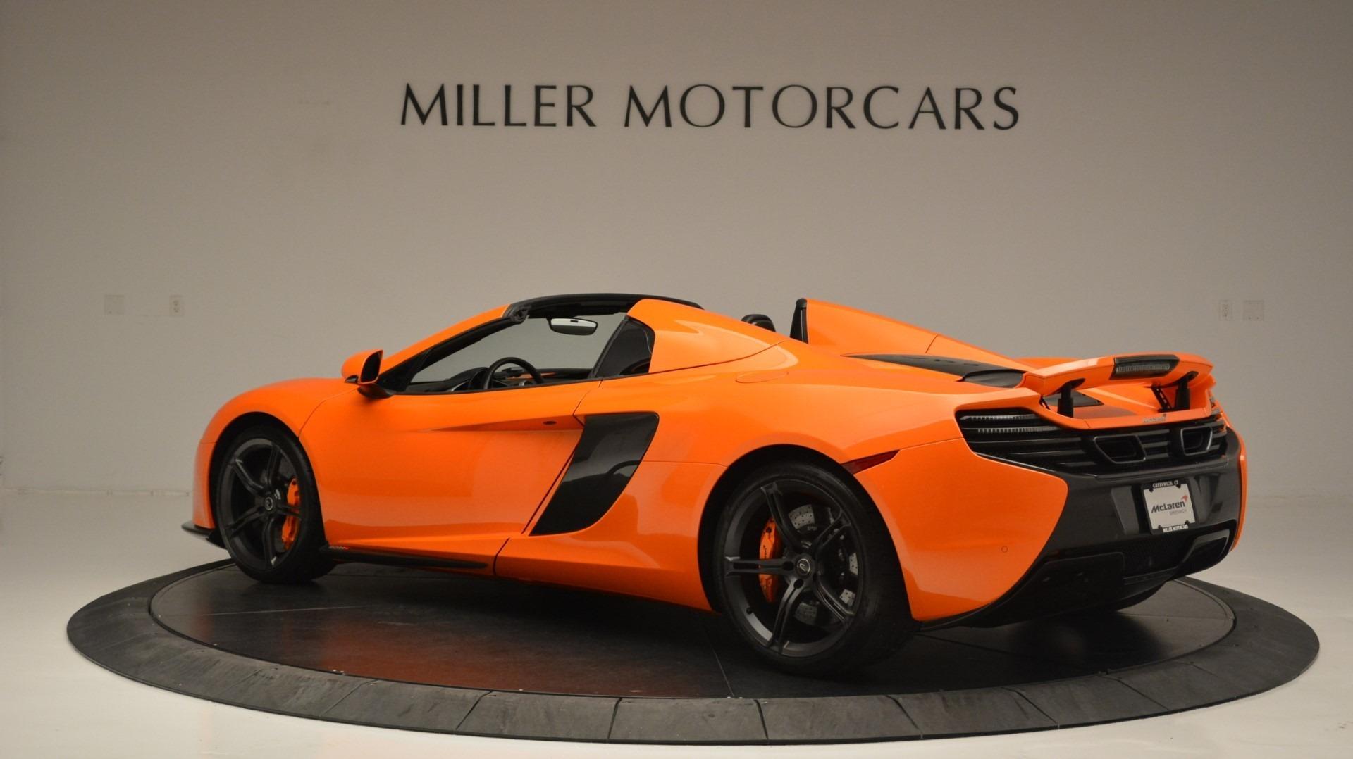 Used 2015 McLaren 650S Spider Convertible For Sale In Westport, CT 2375_p4