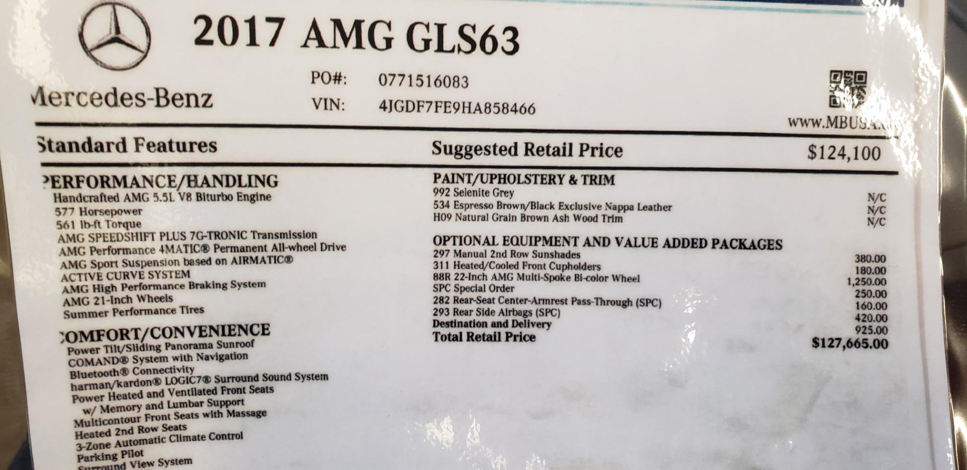 Used 2017 Mercedes-Benz GLS AMG GLS 63 For Sale In Westport, CT 2518_p32