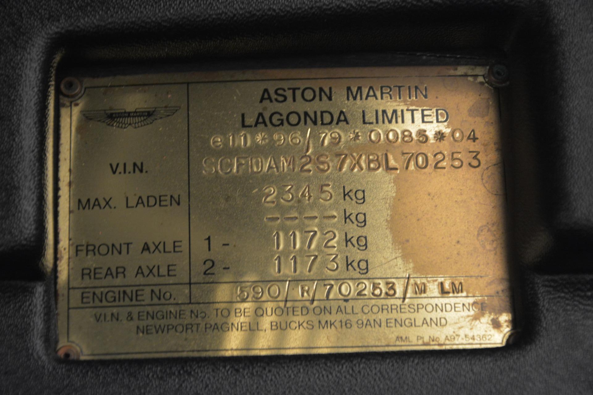 Used 1999 Aston Martin V8 Vantage Le Mans V600 Coupe For Sale In Westport, CT 2789_p36