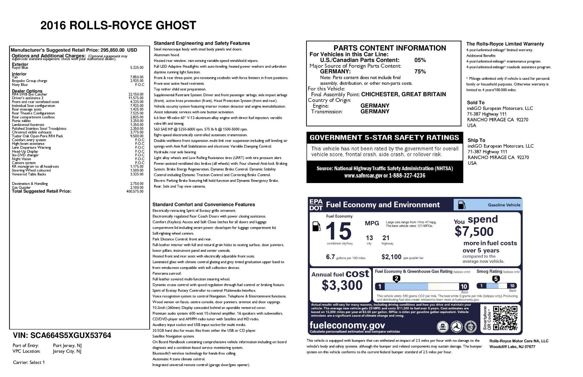Used 2016 Rolls-Royce Ghost  For Sale In Westport, CT 3050_p32