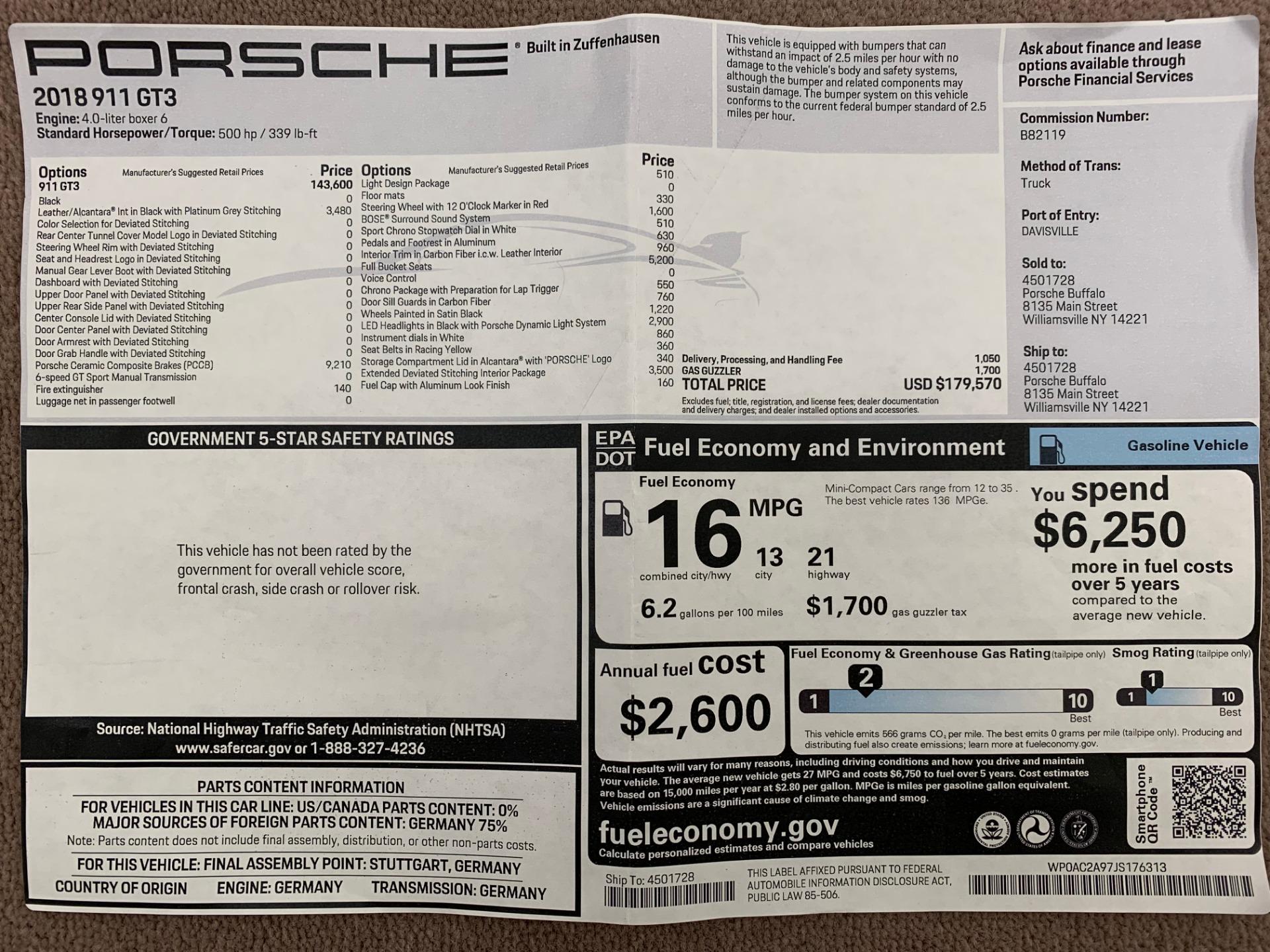 Used 2018 Porsche 911 GT3 For Sale In Westport, CT 3056_p33