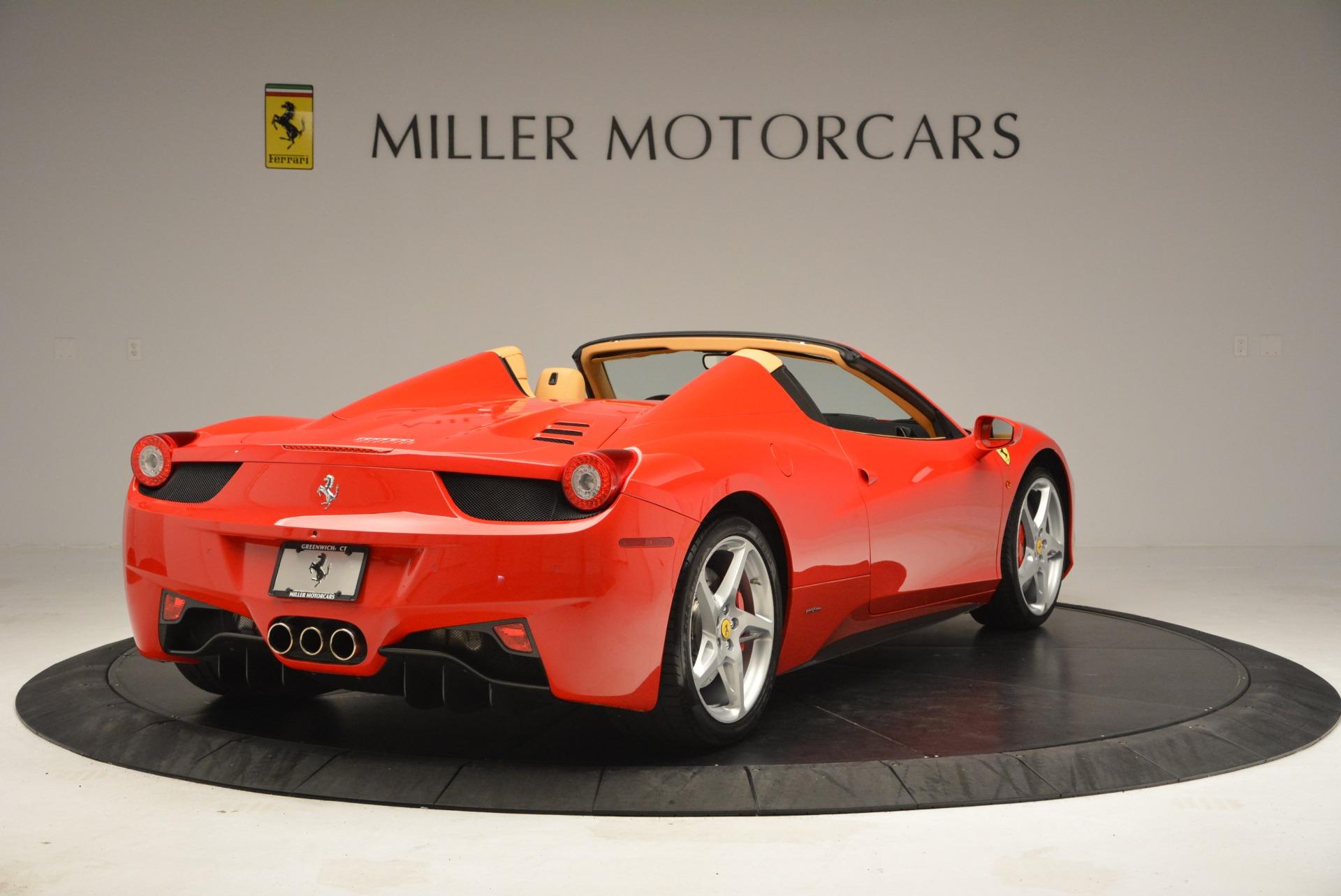 Used 2013 Ferrari 458 Spider  For Sale In Westport, CT 3057_p7