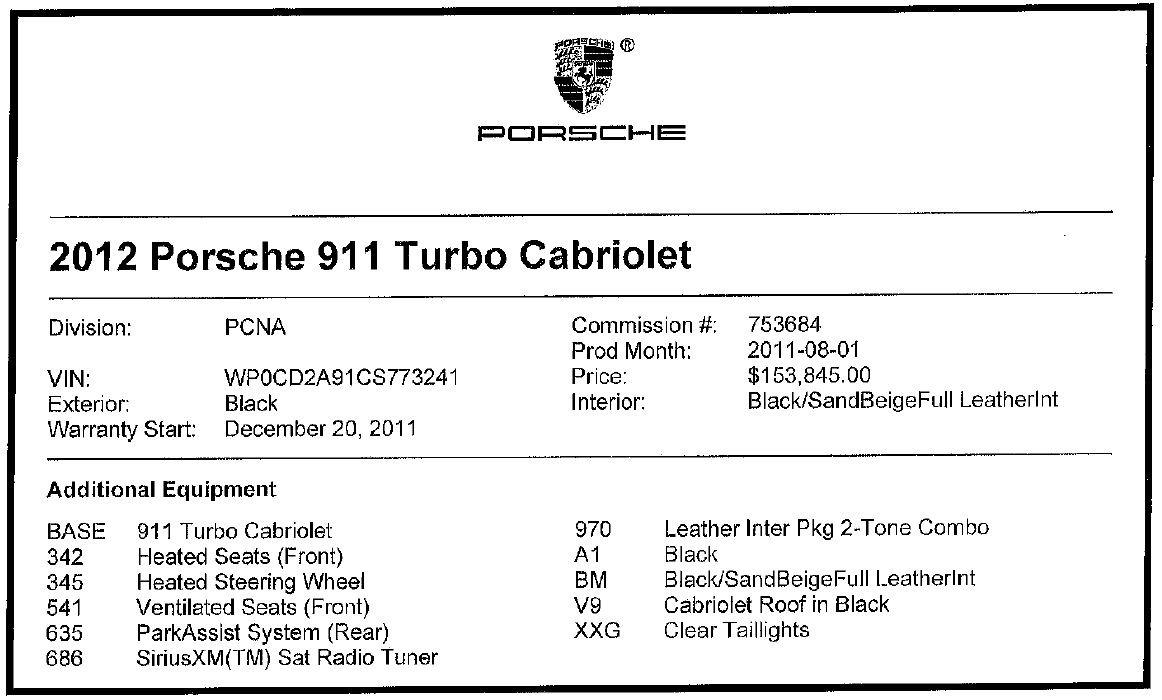 Used 2012 Porsche 911 Turbo For Sale In Westport, CT 3063_p28