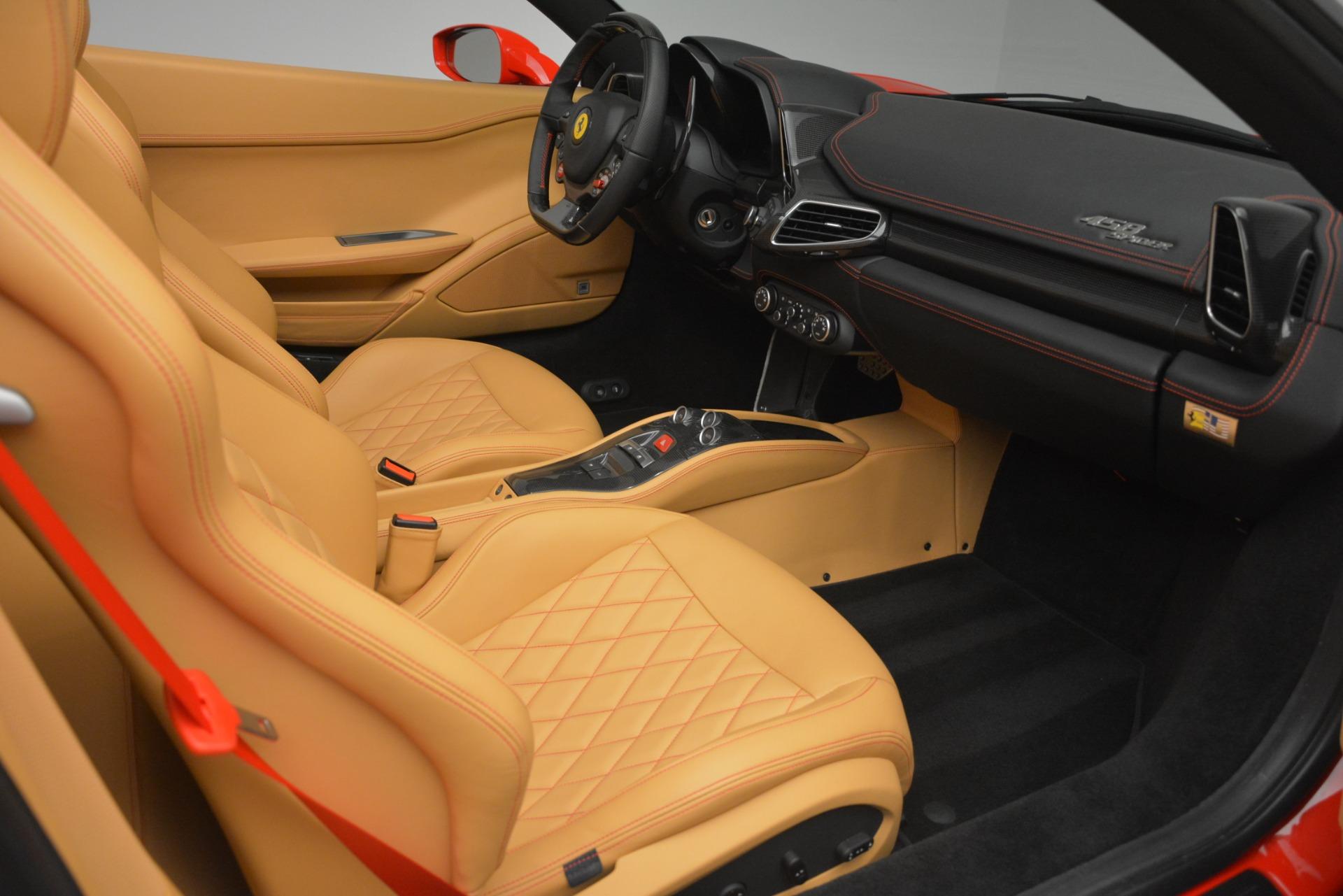 Used 2015 Ferrari 458 Spider  For Sale In Westport, CT 3233_p23