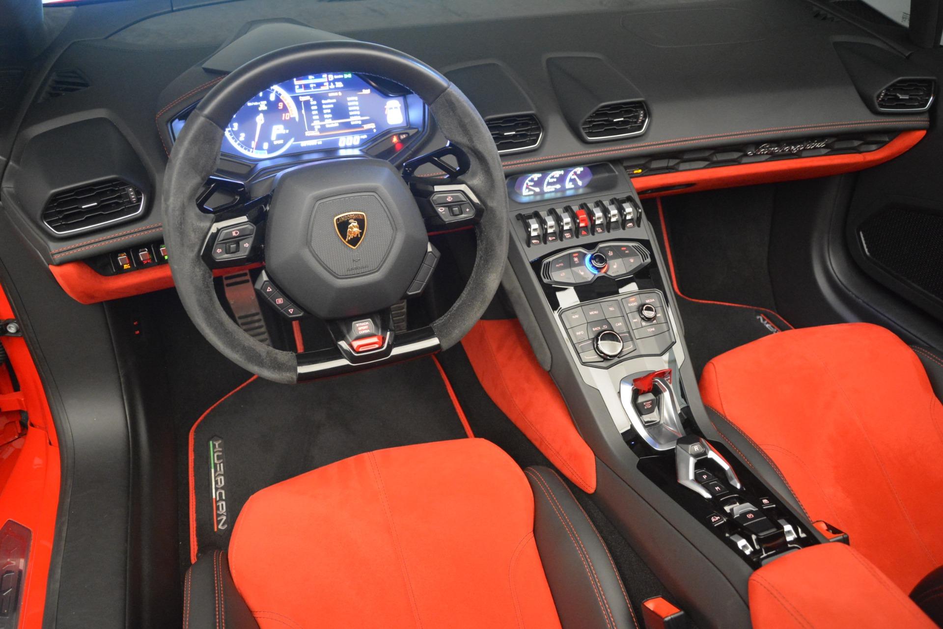 Used 2017 Lamborghini Huracan LP 610-4 Spyder For Sale In Westport, CT 3270_p19