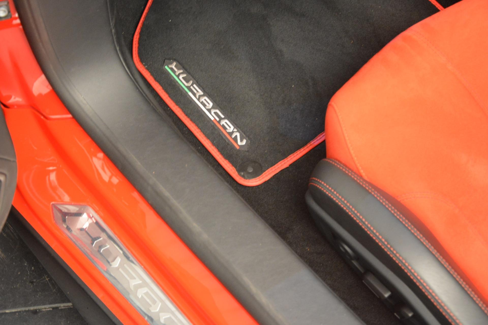 Used 2017 Lamborghini Huracan LP 610-4 Spyder For Sale In Westport, CT 3270_p29