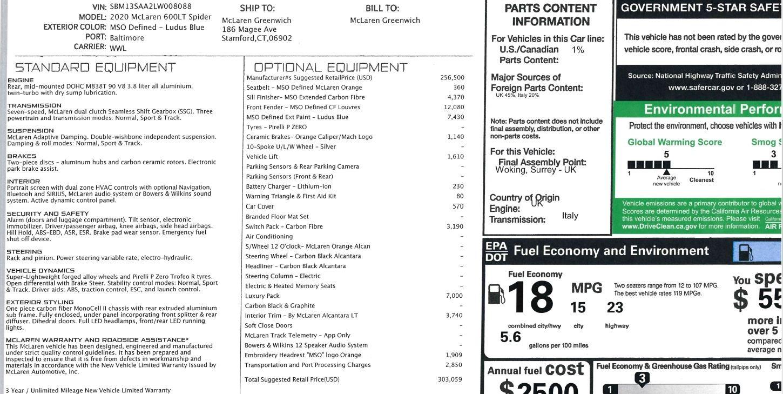 New 2020 McLaren 600LT Spider For Sale In Westport, CT 3311_p40