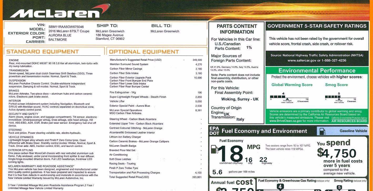 Used 2016 McLaren 675LT Coupe For Sale In Westport, CT 75_p26