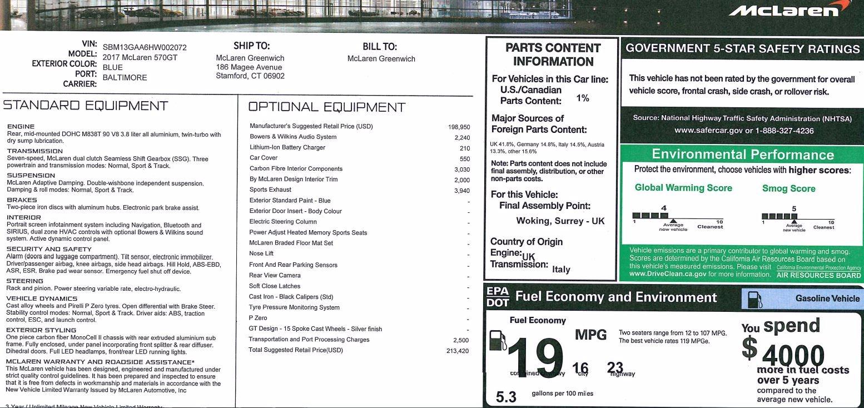 New 2017 McLaren 570GT  For Sale In Westport, CT 832_p24