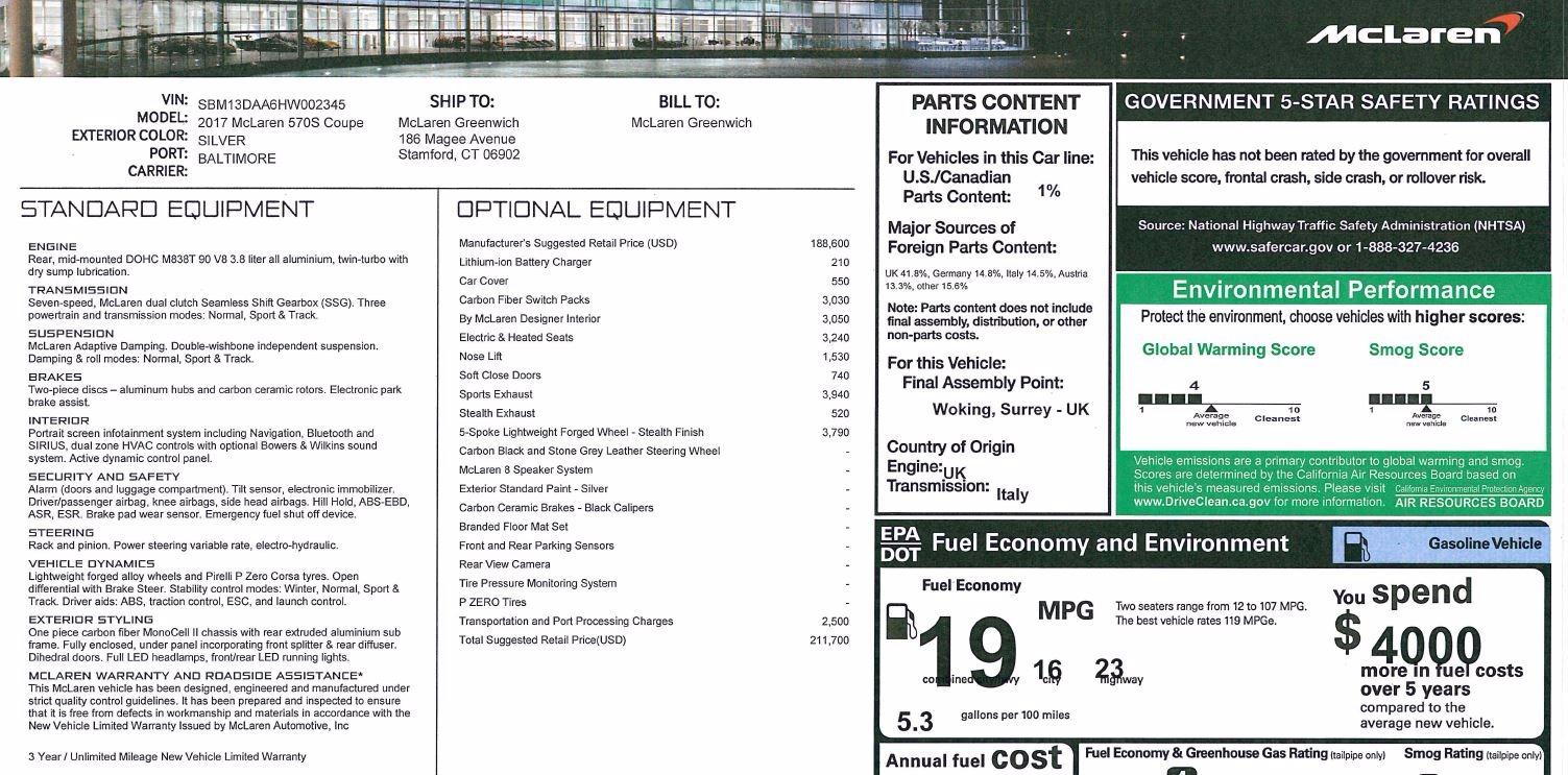 Used 2017 McLaren 570S  For Sale In Westport, CT 842_p22