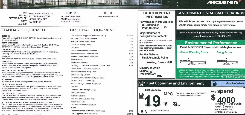 Used 2017 McLaren 570GT  For Sale In Westport, CT 907_p17