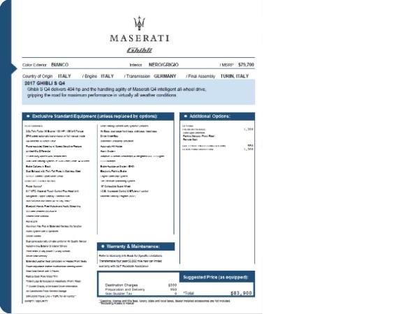 New 2017 Maserati Ghibli S Q4 EX-Loaner for sale Sold at Alfa Romeo of Westport in Westport CT 06880 26