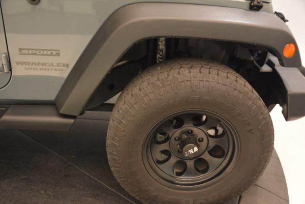 Used 2014 Jeep Wrangler Unlimited Sport for sale Sold at Alfa Romeo of Westport in Westport CT 06880 26