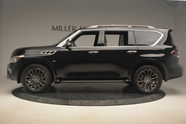 Used 2015 INFINITI QX80 Limited 4WD for sale Sold at Alfa Romeo of Westport in Westport CT 06880 3