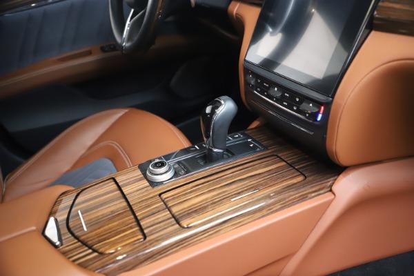 Used 2017 Maserati Quattroporte SQ4 GranLusso/ Zegna for sale $62,900 at Alfa Romeo of Westport in Westport CT 06880 22