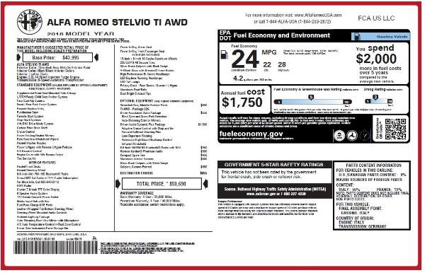 New 2018 Alfa Romeo Stelvio Ti Q4 for sale Sold at Alfa Romeo of Westport in Westport CT 06880 27