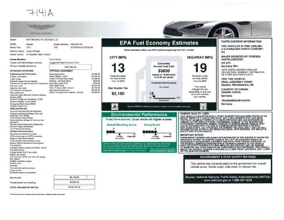 Used 2012 Aston Martin Rapide for sale Sold at Alfa Romeo of Westport in Westport CT 06880 23