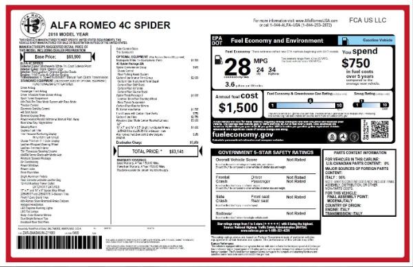 New 2018 Alfa Romeo 4C Spider for sale Sold at Alfa Romeo of Westport in Westport CT 06880 28
