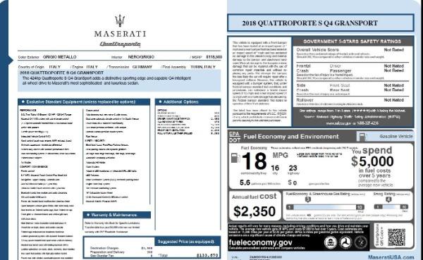 Used 2018 Maserati Quattroporte S Q4 Gransport for sale $69,900 at Alfa Romeo of Westport in Westport CT 06880 26