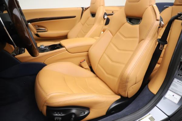 Used 2018 Maserati GranTurismo Sport Convertible for sale Sold at Alfa Romeo of Westport in Westport CT 06880 21