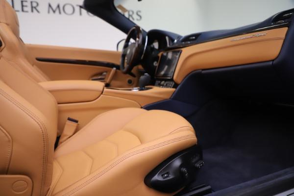 Used 2018 Maserati GranTurismo Sport Convertible for sale Sold at Alfa Romeo of Westport in Westport CT 06880 27
