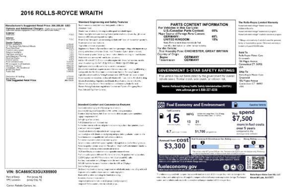 Used 2016 Rolls-Royce Wraith for sale Sold at Alfa Romeo of Westport in Westport CT 06880 28