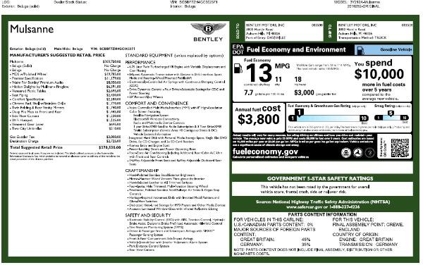 Used 2016 Bentley Mulsanne for sale Sold at Alfa Romeo of Westport in Westport CT 06880 26