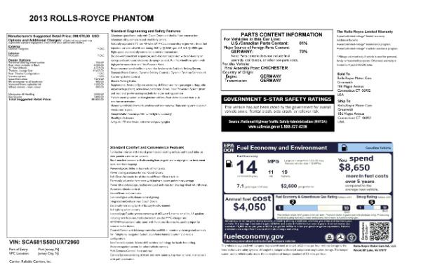 Used 2013 Rolls-Royce Phantom for sale Sold at Alfa Romeo of Westport in Westport CT 06880 24