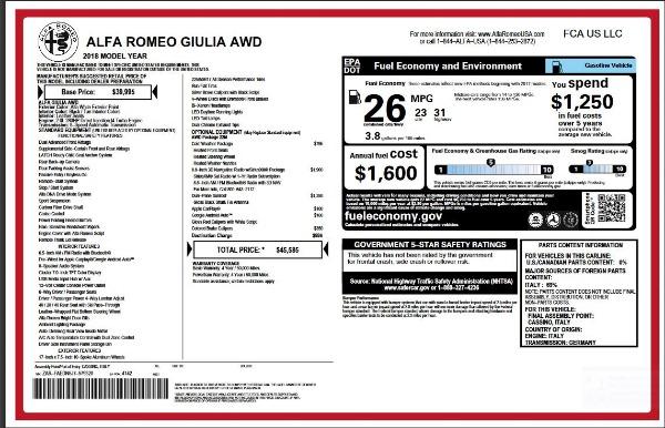 New 2018 Alfa Romeo Giulia for sale Sold at Alfa Romeo of Westport in Westport CT 06880 2