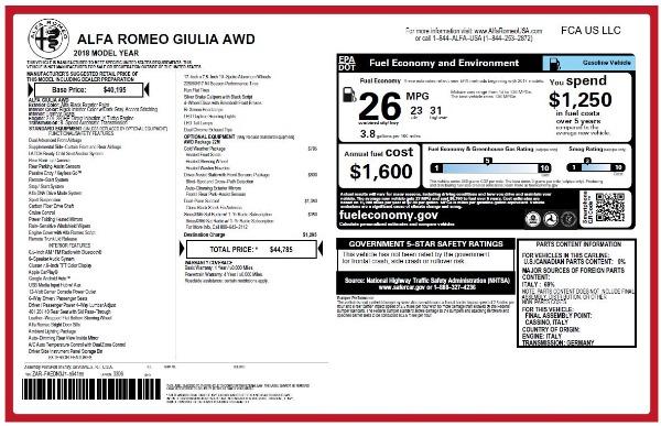 New 2018 Alfa Romeo Giulia Q4 for sale Sold at Alfa Romeo of Westport in Westport CT 06880 25