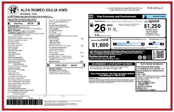 New 2018 Alfa Romeo Giulia Q4 for sale Sold at Alfa Romeo of Westport in Westport CT 06880 2