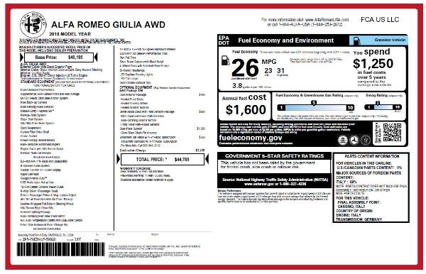 New 2018 Alfa Romeo Giulia Q4 for sale Sold at Alfa Romeo of Westport in Westport CT 06880 22