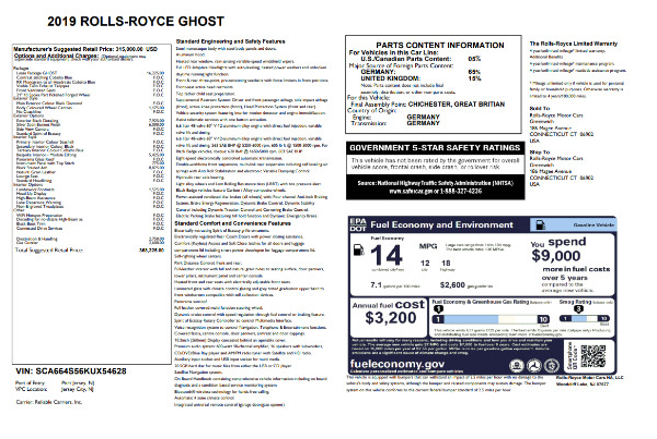 New 2019 Rolls-Royce Ghost for sale Sold at Alfa Romeo of Westport in Westport CT 06880 27