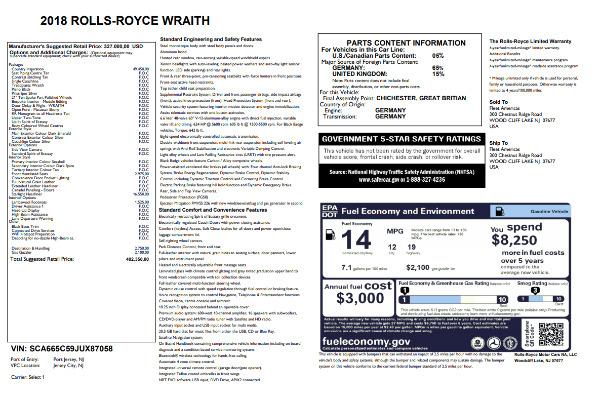 Used 2018 Rolls-Royce Wraith for sale Sold at Alfa Romeo of Westport in Westport CT 06880 7