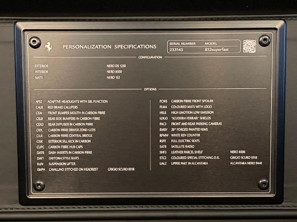 Used 2018 Ferrari 812 Superfast for sale $339,900 at Alfa Romeo of Westport in Westport CT 06880 21