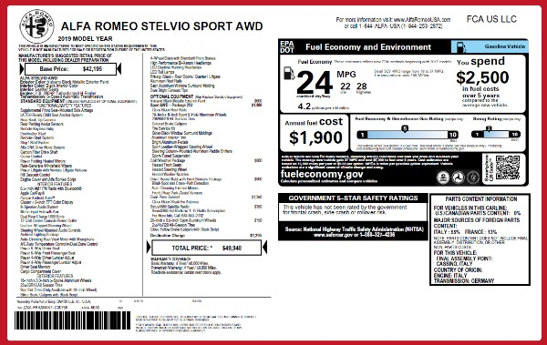 New 2019 Alfa Romeo Stelvio Q4 for sale Sold at Alfa Romeo of Westport in Westport CT 06880 26