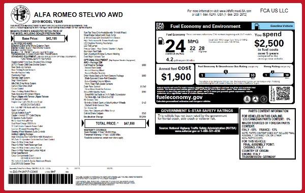 New 2019 Alfa Romeo Stelvio Q4 for sale Sold at Alfa Romeo of Westport in Westport CT 06880 21