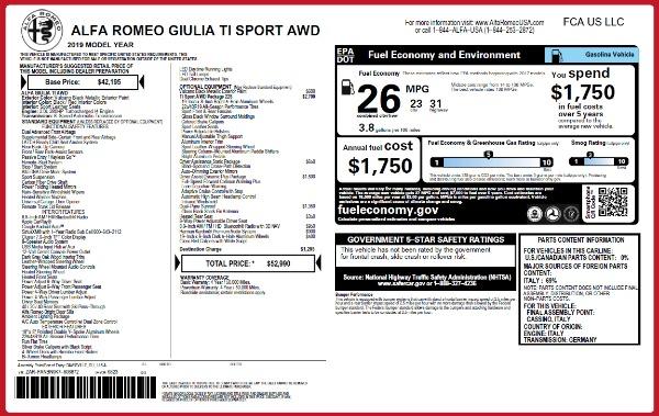 New 2019 Alfa Romeo Giulia Ti Sport Q4 for sale Sold at Alfa Romeo of Westport in Westport CT 06880 26